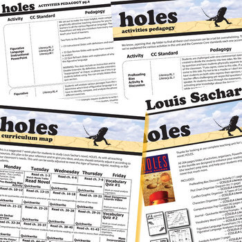 HOLES Unit Novel Study - Literature Guide (Print & Digital Included)