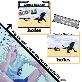 HOLES Unit Novel Study - Literature Guide (Print & Digital