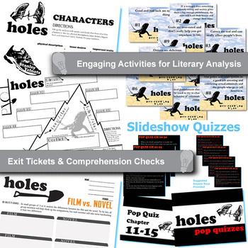 HOLES Unit Plan - Novel Study Bundle (by Louis Sachar) - Literature Guide
