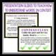 HOLES VOCABULARY BOOKLET AND PRESENTATION SLIDES