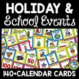 POCKET CHART CALENDAR HOLIDAY EVENTS CARDS BRIGHT CLASSROOM DECOR