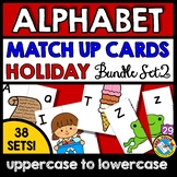 HOLIDAY ALPHABET LETTERS MATCH UP CARDS BACK TO SCHOOL ACTIVITY KINDERGARTEN