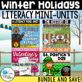 NO PREP - Winter Holidays Literacy Mini-Units {Bundle}