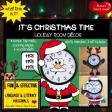 HOLIDAY CLOCK ROOM DECOR Santa Speech Therapy classroom teacher