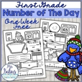 Number Sense Winter Math Freebie Number of the Day First Grade