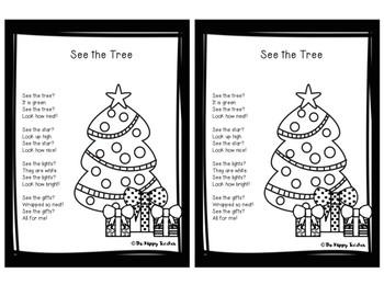 HOLIDAY FREEBIE: See the Tree Christmas Emergent Reader Poem Printable *FREEBIE*