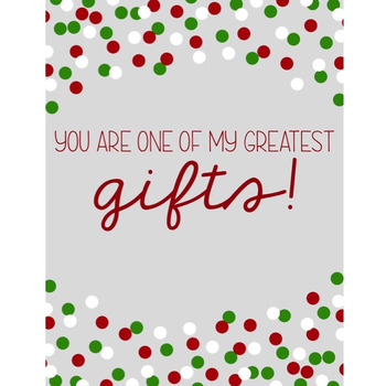 HOLIDAY FREEBIE: You Are One of My Greatest Gifts Positive Affirmation Printable