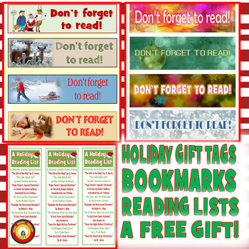 HOLIDAY GIFT TAGS- BOOKMARKS- READING LIST- FREE!  ENJOY!