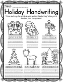 HOLIDAY HANDWRITING WINTER CHRISTMAS HOLIDAY THEMED