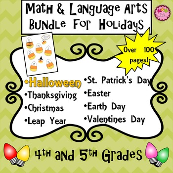 HALLOWEEN and Other Holidays BUNDLE 4th and 5th Grade