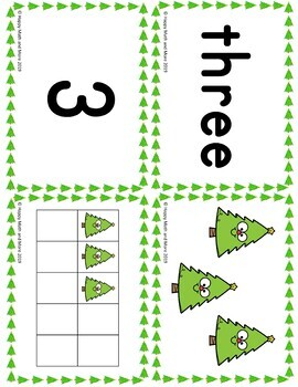HOLIDAY MATH CENTERS NUMBERS 1-10
