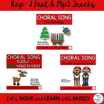 Holiday Music Program: Original Songs, Script, Sheet Music, and Mp3 Tracks