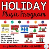 Holiday Music Program: Original Songs, Script, Sheet Music, and Mp3 Tracks