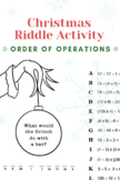 HOLIDAY Order of Operations Decoder Riddle Grinch