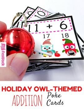 HOLIDAY Owl Addition Facts Poke Game