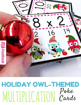 HOLIDAY Owl MULTIPLICATION Facts Poke Game