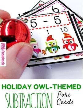 HOLIDAY Owl Poke MATH FACTS Bundle