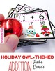 HOLIDAY Owl Poke MATH FACTS Bundle