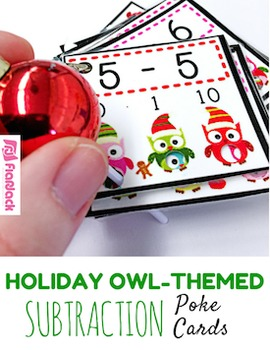 HOLIDAY Owl SUBTRACTION Facts Poke Game