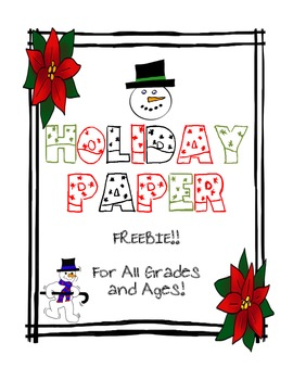 HOLIDAY PAPER-FREEBIE!