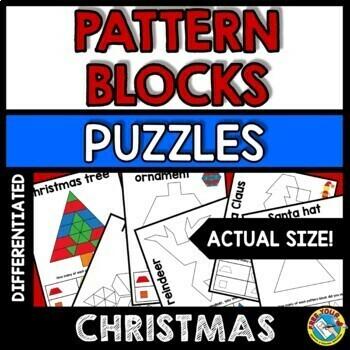 HOLIDAY PATTERN BLOCKS PUZZLES BUNDLE (EASTER ACTIVITY KINDERGARTEN, 1ST GRADE)