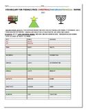 HOLIDAY RHYME ACTIVITY: CHRISTMAS, HANUKKAH, AND CHRISTMAS