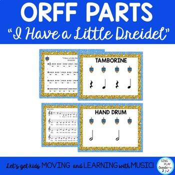 "Music Class Lesson Unit: ""I Have a Little Dreidel"" Song, Kodaly, Orff, Guitar"