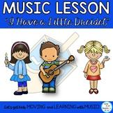 "Music Lesson ""I Have a Little Dreidel""  Kodaly, Orff, Guitar, Dreidel Game"
