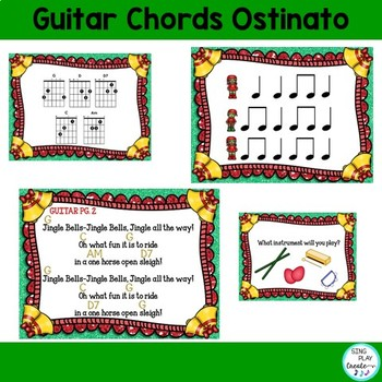 "Holiday Music Lesson: ""Jingle Bells"" Orff, Guitar, Keyboard, Printables, Mp3"