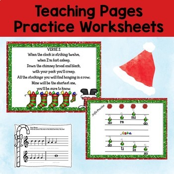 """Music Lesson: Song """"Jolly Old St. Nicholas"""" Orff, Kodaly, Recorder, Guitar"""