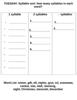 HOLIDAY SPELLING PACKET GRADE 2