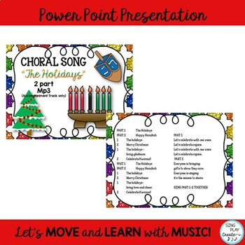 "Holiday Choral Song: ""The Holidays"" 2 pt. Elementary Choir"