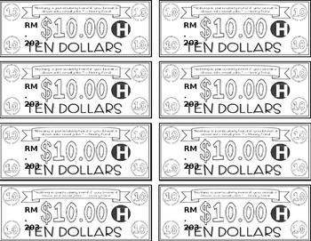 HOLIDAY THEME 2 - Classroom Money - EDITABLE