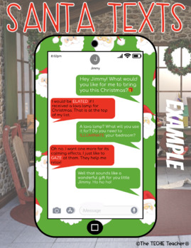 CHRISTMAS THEMED DIGITAL WRITING ACTIVITY: SANTA TEXTS