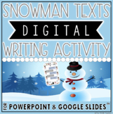 HOLIDAY THEMED DIGITAL WRITING ACTIVITY: SNOWMAN TEXTS