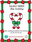 Holiday Themed Skip Counting and Multiples Practice numbers 2, 3, 4, 5, 6