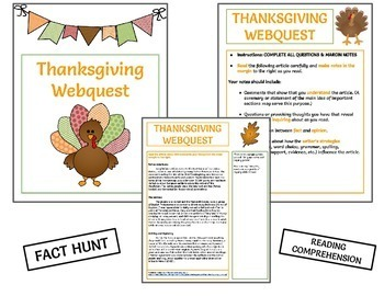 Holiday Webquest Bundle - NO PREP! Editable in Google Apps!
