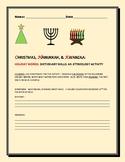 HOLIDAY WORDS: AN ETYMOLOGY ACTIVITY:CHRISTMAS, HANUKKAH & KWANZAA