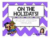 HOLIDAY WRITING TEMPLATE