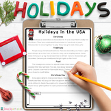 HOLIDAYS AROUND THE WORLD Comprehension Passages and Questions