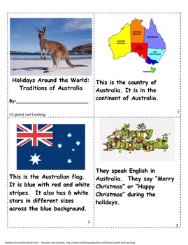 HOLIDAYS AROUND THE WORLD:  AUSTRALIA Mini Unit