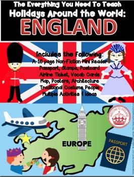 HOLIDAYS AROUND THE WORLD:  ENGLAND Mini Unit
