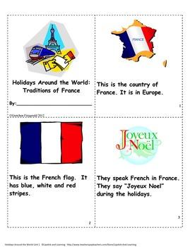 HOLIDAYS AROUND THE WORLD:  FRANCE  Mini Unit