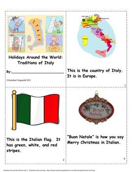 HOLIDAYS AROUND THE WORLD:  ITALY Mini Unit