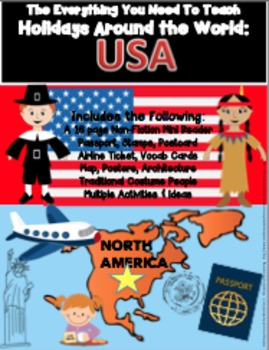 HOLIDAYS AROUND THE WORLD:  USA Mini Unit