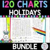 HOLIDAYS BUNDLE 120 CHARTS WITH MISSING NUMBERS DIFFERENTIATED