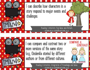 """HOLLYWOOD - 2nd Grade Common Core Standards """"I CAN"""" format / posters"""