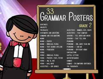 HOLLYWOOD - 2nd grade GRAMMAR posters / Scott Foresman Reading