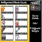 HOLLYWOOD Blank Cards