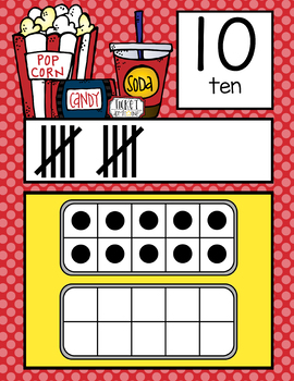 HOLLYWOOD - Number Line Banner, 0 to 20, Illustrated